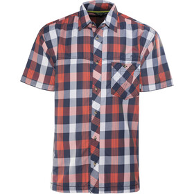 Meru Kilkis Functional SS Shirt Men orange big check